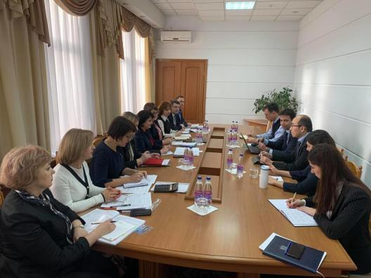 Minister of Health, Labour and Social Protection executives meeting with International Monetary Fund experts