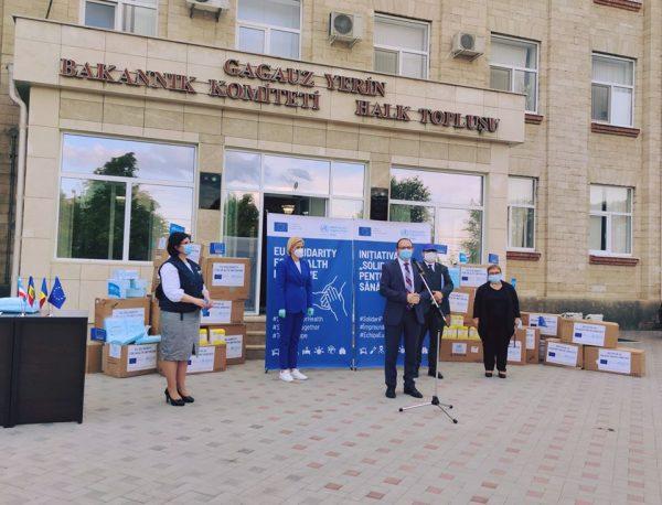 Personalul medical din UTA Găgăuzia a recepționat echipamentele de protecție din partea UE și OMS