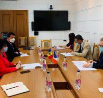 Viorica Dumbrăveanu a avut astăzi o întrevedere cu  E.S  Pascal LE DEUNFF, Ambasadorul Franței în Republica Moldova