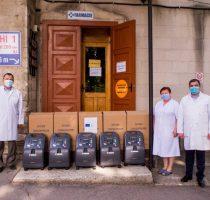 Echipamentele care sporesc șansele la viață și recuperare, 356 concentratoare de oxigen, au fost livrate de Uniunea Europeană și Organizația Mondială a Sănătății
