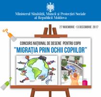 """Concurs naţional de desene pentru copii """"Migrația prin ochii copiilor"""" Ediția a -II-a"""