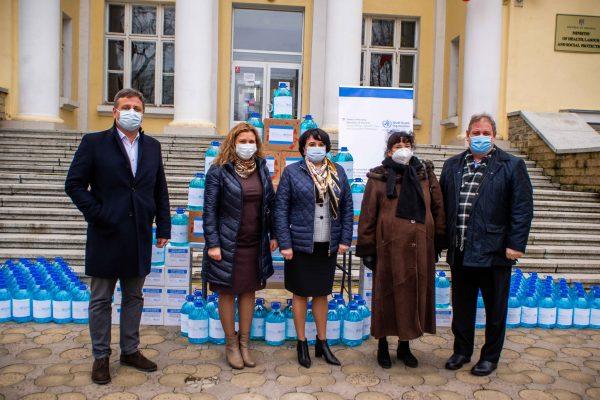 Donație de dezinfectanți din partea Austriei și OMS pentru instituțiile de asistență socială din țară