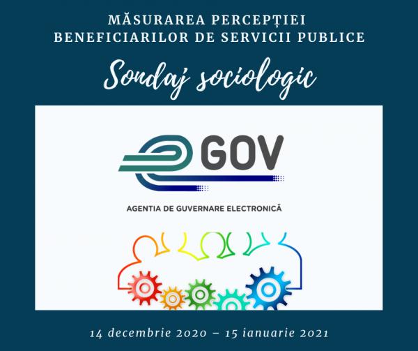 Sondaj sociologic – Măsurarea percepției beneficiarilor de servicii publice