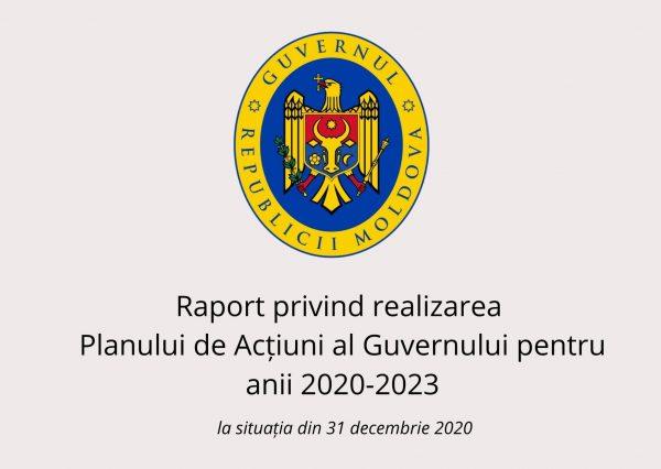Cancelaria de Stat a elaborat Raportul de implementare a Planului de acțiuni al Guvernului pentru anul 2020