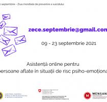 Pe 10 septembrie, marcăm Ziua Mondială de Prevenire a Suicidului