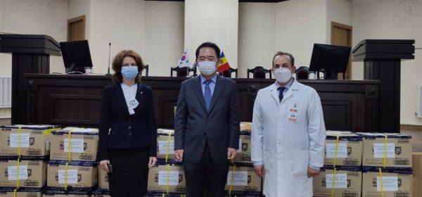 Republica Coreea a donat țării noastre un lot de echipamente de protecție pentru lucrătorii medicali din prima linie în lupta cu pandemia
